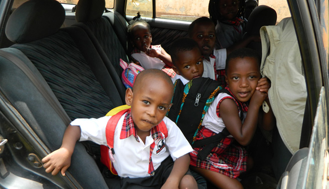 Divine Day Care Car School Bus Crammed