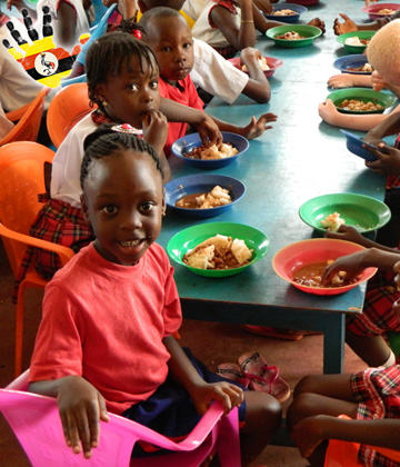 Children Eating at the Divine Day Care in Kajjansi